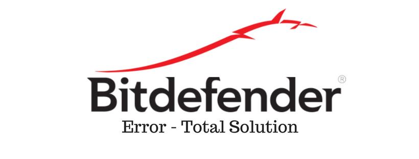 Bitdefender Error 1020- Main image