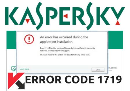 Kaspersky Antivirus ERROR 1719